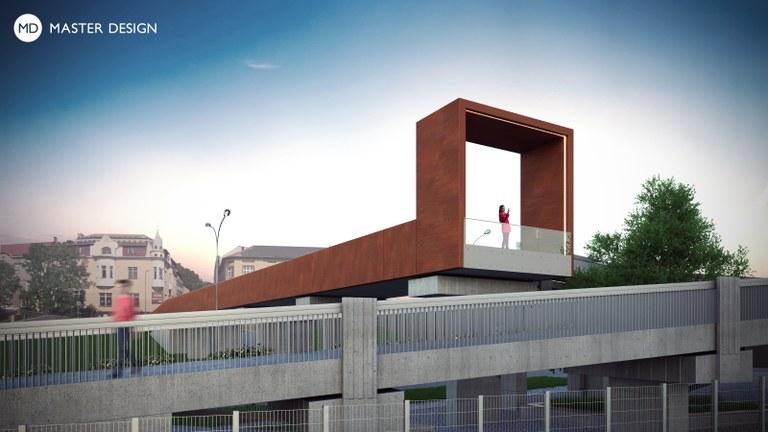 Díky nové lávce nad Bazaly si budete moci užít netradiční výhled na celé město