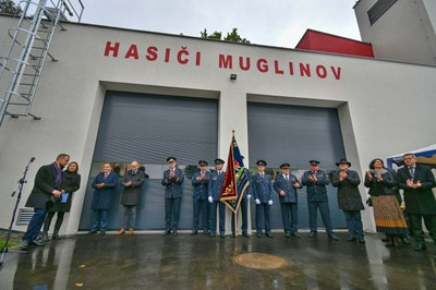 Slavnostní otevření hasičské zbrojnice Muglinov