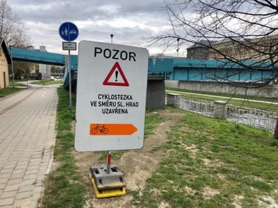 Upozornění pro cyklisty