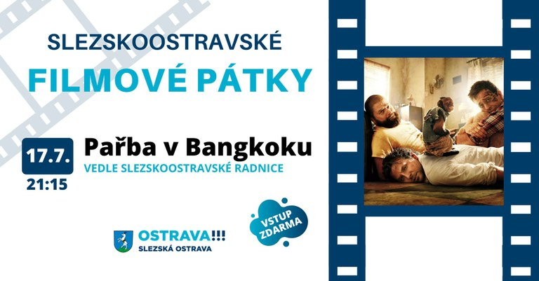 V pátek 17. července promítáme film Pařba v Bangkoku