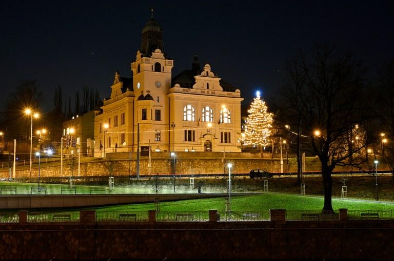 Vánoční výzdoba ve Slezské Ostravě
