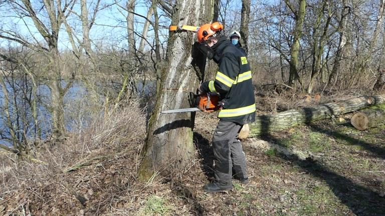 Výcvik dobrovolných hasičů
