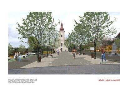 Vzhled nového náměstíčka v Heřmanicích mohou ovlivnit samotní občané