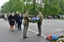 Pietní akt k 74. výročí osvobození Ostravy.